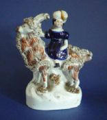 Lovely 19th Century Staffordshire Pottery Figure of 'Princess Victoria & Billy the Goat' c1850